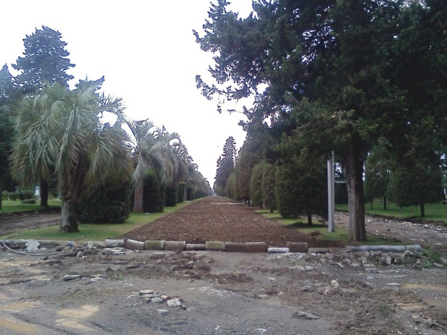 ძველ ბულვარში სამი ბილიკიდან ერთი უკვე გაუქმებულია