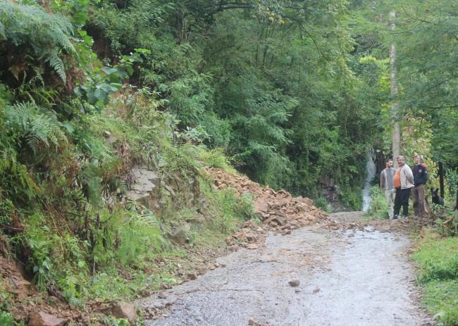 წვიმის შედეგად, ხელვაჩაურის რამდენიმე სოფელში მეწყერი განვითარდა