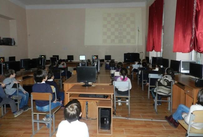ელექტრონული ჭადრაკის გაკვეთილი ბათუმის მე-2 საჯარო სკოლაში