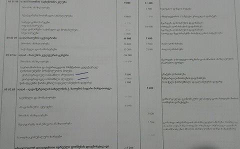 ამონარიდი ბიუჯეტის პროექტიდან, სადაც შეტანილია ინფორმაცია დაგეგმილი გასტროლის შესახებ რუსეთში. ბიუჯეტი საკრებულომ დღეს დაამტკიცა.