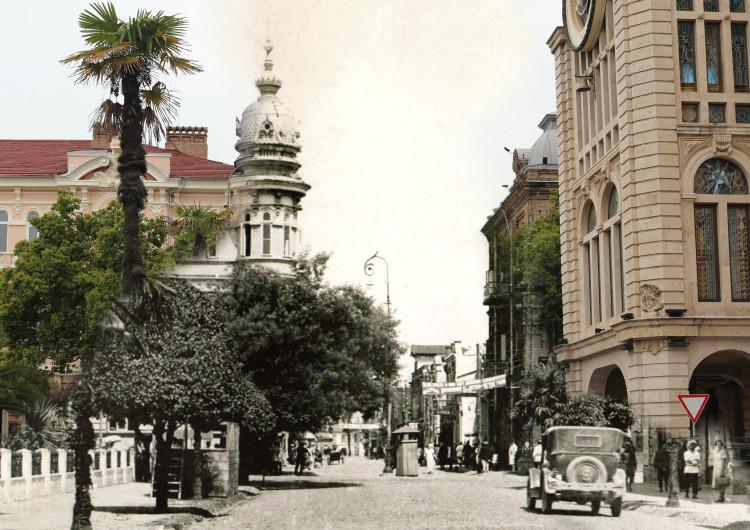 """""""მარიინსკი გამზირი"""" 1920 წელი / მემედ აბაშიძის ქუჩა 2017 წელი"""