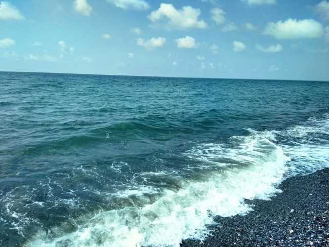 შავი ზღვა ჭოროხის შესართავთან / თედო ჯორბენაძის ფოტო