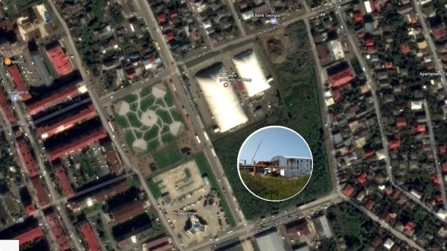 სპორტის სასახლის მშენებლობა ბათუმში სელიმ ხიმშიაშვილისა და სულხან-საბა ორბელიანის ქუჩების კვეთაში მიმდინარეობს