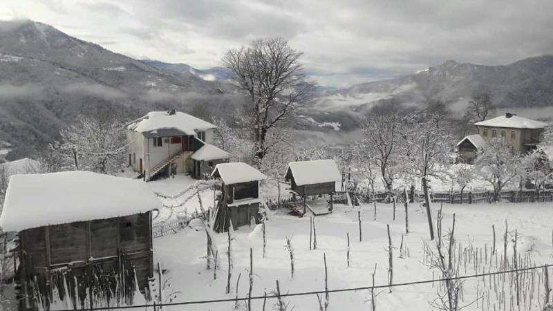 თოვლიანი დღე აჭარის სოფელში [ფოტო]