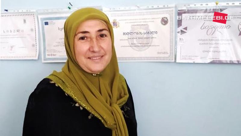Учительница Аза из Панкиси, вошедшая в десятку лучших учителей Грузии