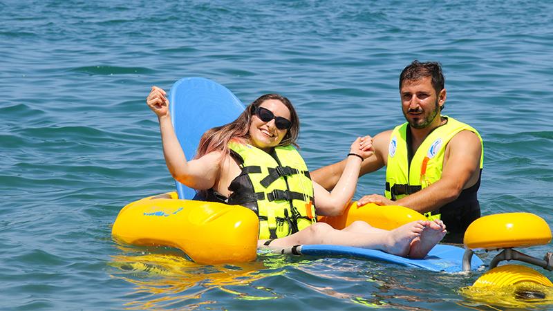 В Батуми открылся пляж для людей с ограниченными физическими возможностями [ФОТО]