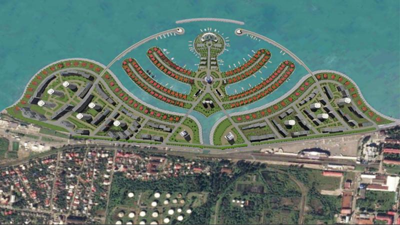 Компании Ambassador Batumi Island передано 89 га прибрежной части моря под строительство искусственного острова