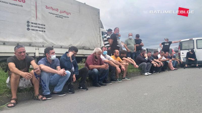 Протест водителей трейлеров в Батуми — задержаны четыре человека