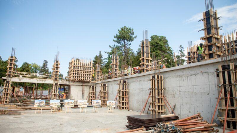 ჩაქვის ძალოსნობის ახალი დარბაზის მშენებლობის სამუშაოები